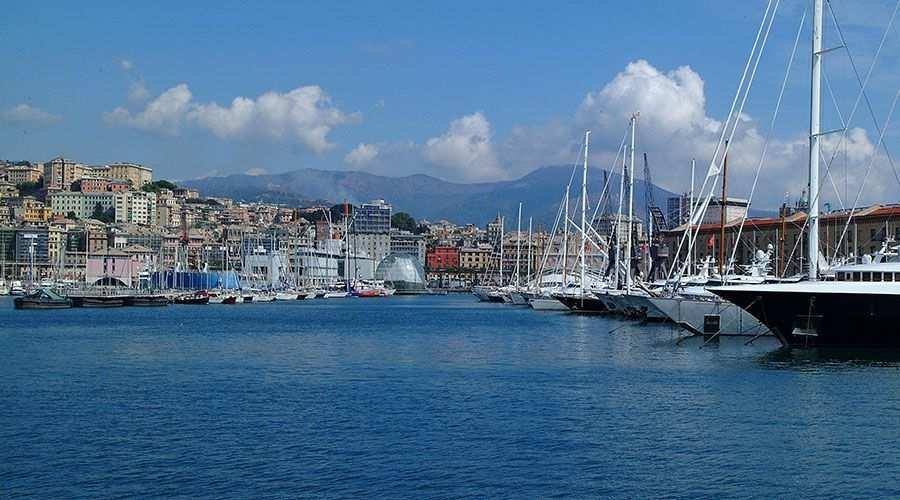 Porto Antico desde el agua - Genova