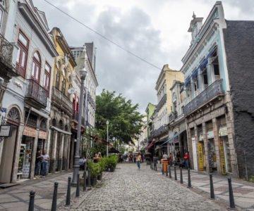 Calle del Barrio Santa Teresa, Río de Janeiro en Brasil