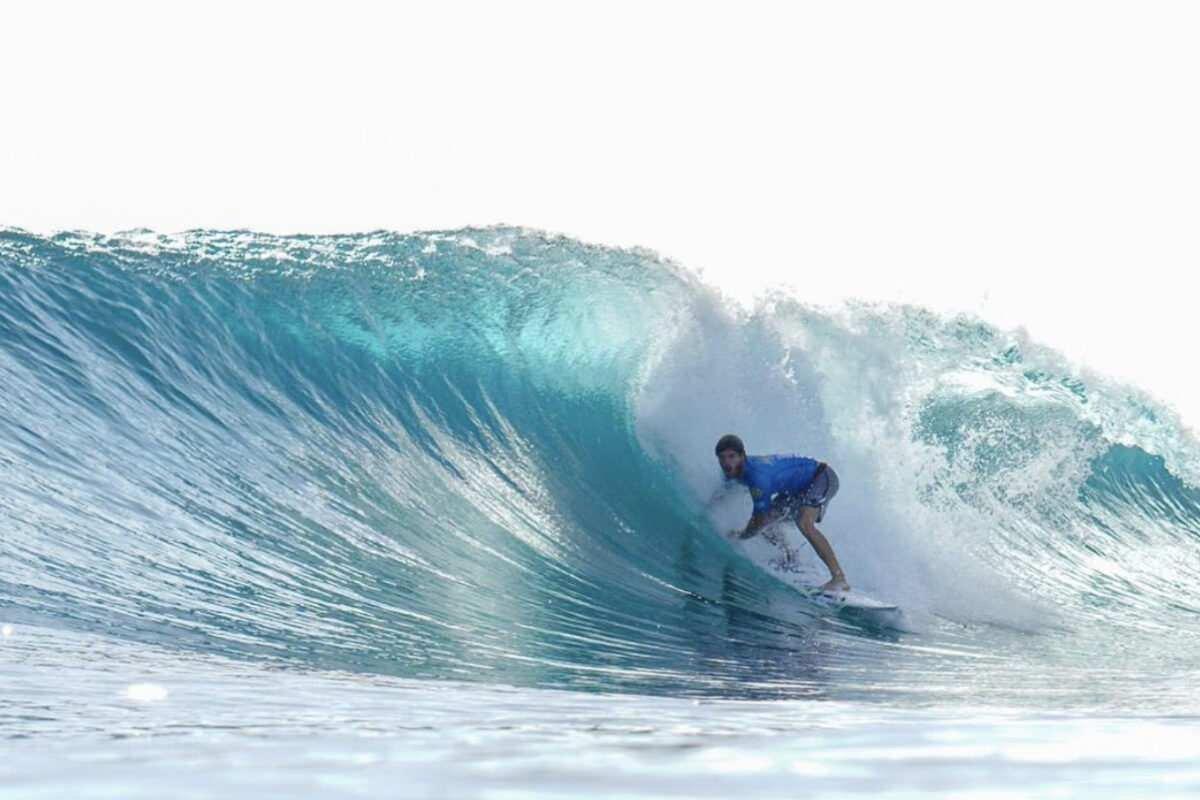 El mejor surfista de Argentina se prepara en Brasil con la mente puesta en Tokio 2021. Foto La Capital de Mar del Plata.