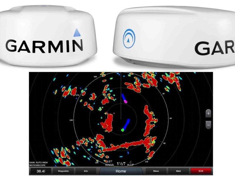 Garmin radares marinos.