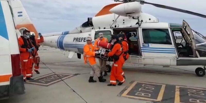 Rescate aéreo de Prefectura Naval Argentina